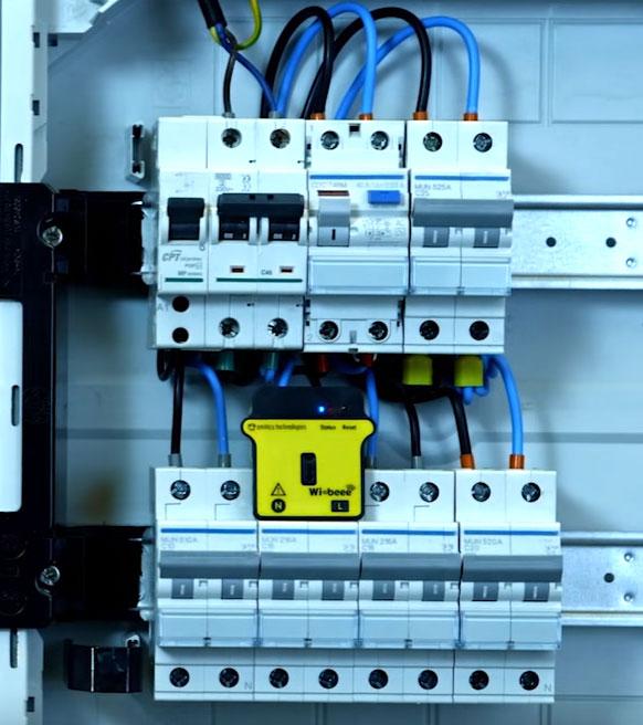 анализатор электросети wibeee в электрощитке